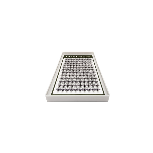 Kępki rzęs o naturalnym podkręceniu LUXURY WHITE - C 12mm (120szt.)