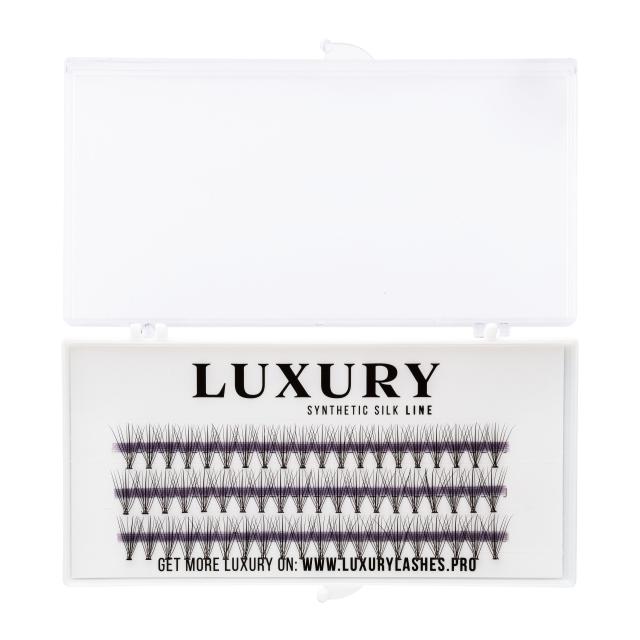Kępki rzęs o naturalnym podkręceniu LUXURY WHITE - C 13mm