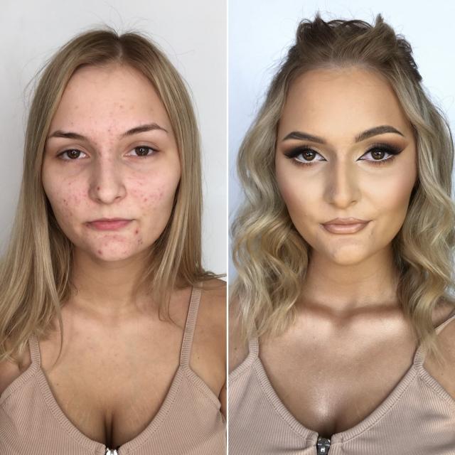 Kurs makijażu online Aleksandra Kołodziejczyk - Makijaż dla cery trądzikowej - problematycznej w stylu foxy eyes