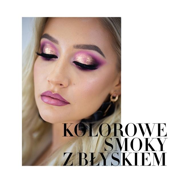 Kurs makijażu online Anna Język-Klasińska - Kolorowe smoky z błyskiem