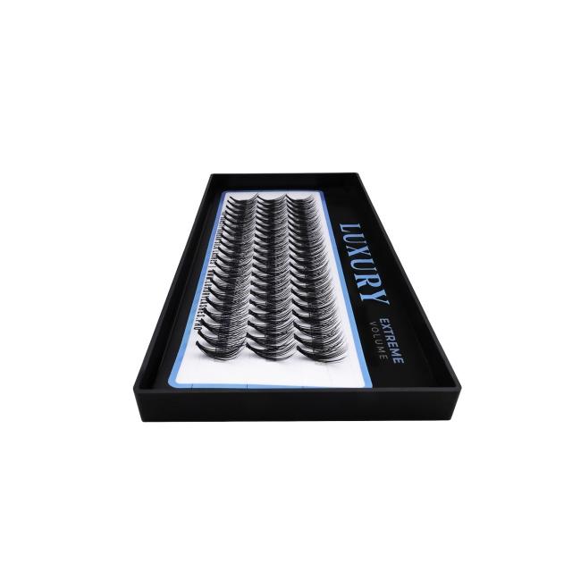 Podwójne kępki rzęs Luxury EXTREME C 11mm - jedwabne, naturalne podkręcenie, 20D