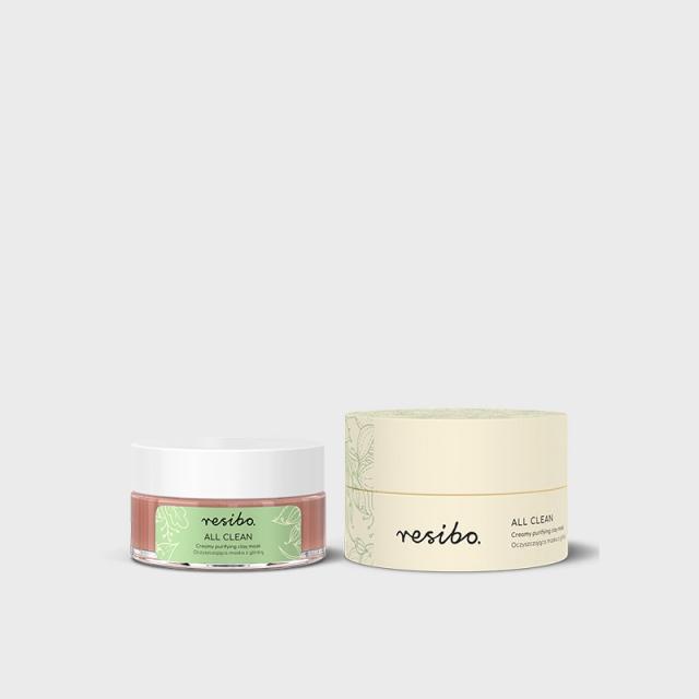 RESIBO - ALL CLEAN oczyszczająca maska z glinką 50ml